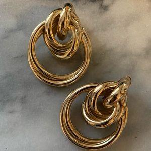 Zara Gold Clip-On Earrings